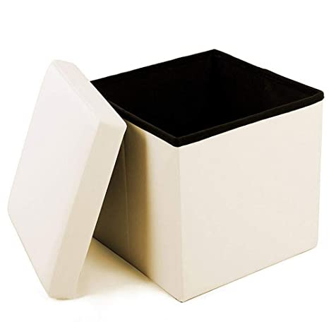 Awesome Geartist Goo1 Leather Folding Organizer Storage Ottoman Bench Footrest Stool Coffee Table Cube Camping Fishing Stool Quick And Easy Assembly Machost Co Dining Chair Design Ideas Machostcouk