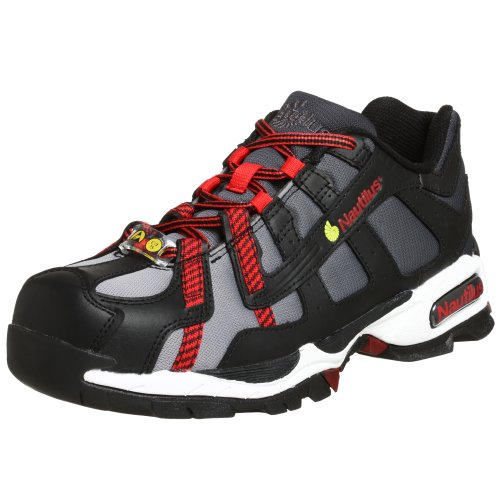 Nautilus 1317 ESD No Exposed Metal Safety Toe Athletic Shoe,Black/Silver/Red,10.5 ()