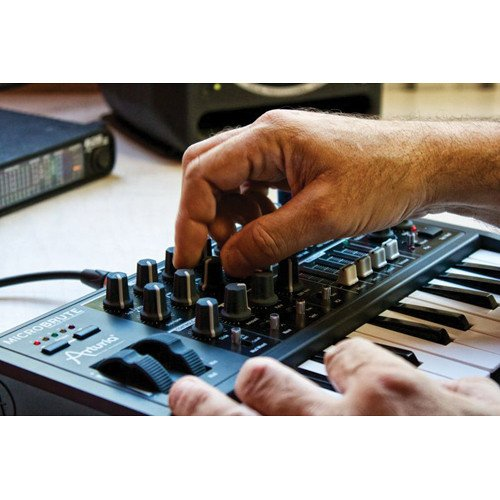 Arturia Microbrute 25-Note Mini Keyboard Analog Synthesizer and Accessory Bundle w/Stereo Headphones + Adapter + Cables by Photo Savings (Image #5)