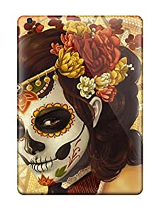 Hot SANLPzx7099XkKju Dia De Muertos Painting Woman Multicolor Skulls Colors Mosaic Holiday Other Tpu Case Cover Compatible With Ipad Air