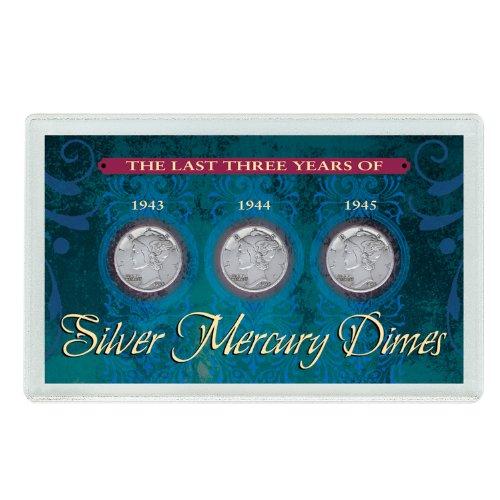 (American Coin Treasures Last Three Years of Silver Mercury Dimes )