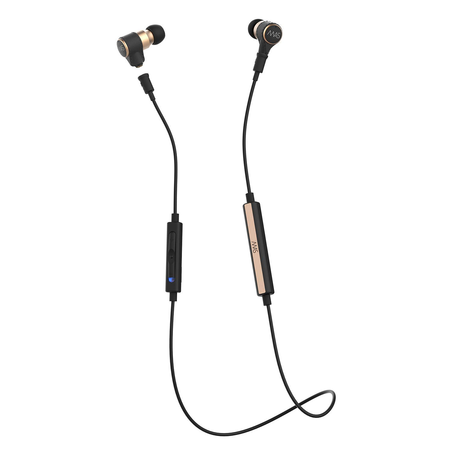 MAS X5i Five Driver HiFi in Ear Monitor Headphones Bluetooth Combo with 12 Hours Continuous Listening Time MMCX Bluetooth Cable, Silver Plated Audio Cable, Inline Remote Cable with MEMS Microphone