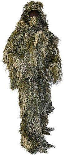 normani Taktischer 'Ghillie Suit' Tarnanzug mit Jacke, Hose, Kopf- und Gewehrabdeckung