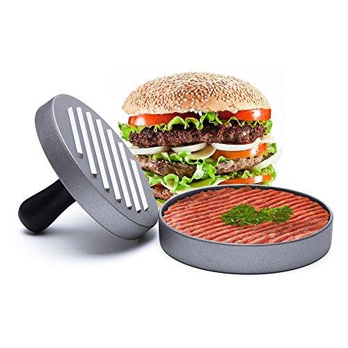 Hamburger Press Aluminum Burger Press, Heavy Duty Non-Stick Hamburger Patty Maker, Perfect Hamburger Mold Ideal for BBQ Life Time Warranty Perfect Burger Press