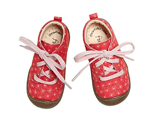 Anna und Paul 8003/24 Baby Mädchen Outdoor Lauflernschuhe James in Pink gepunktet