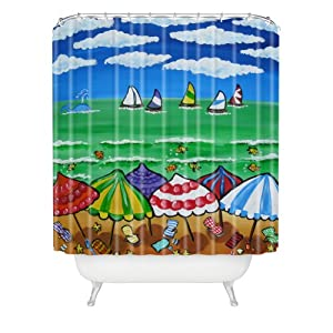 5135I%2BUtOtL._SS300_ 200+ Beach Shower Curtains and Nautical Shower Curtains