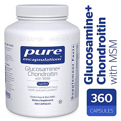 Pure Encapsulations - Glucosamine + Chondroitin with MSM - Healthy Cartilage Strength and Resilience* - 360 Capsules
