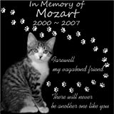 Personalized Pet Dog Cat Memorial 12''x12'' Engraved Black Granite Grave Marker Head Stone Plaque MOZ1