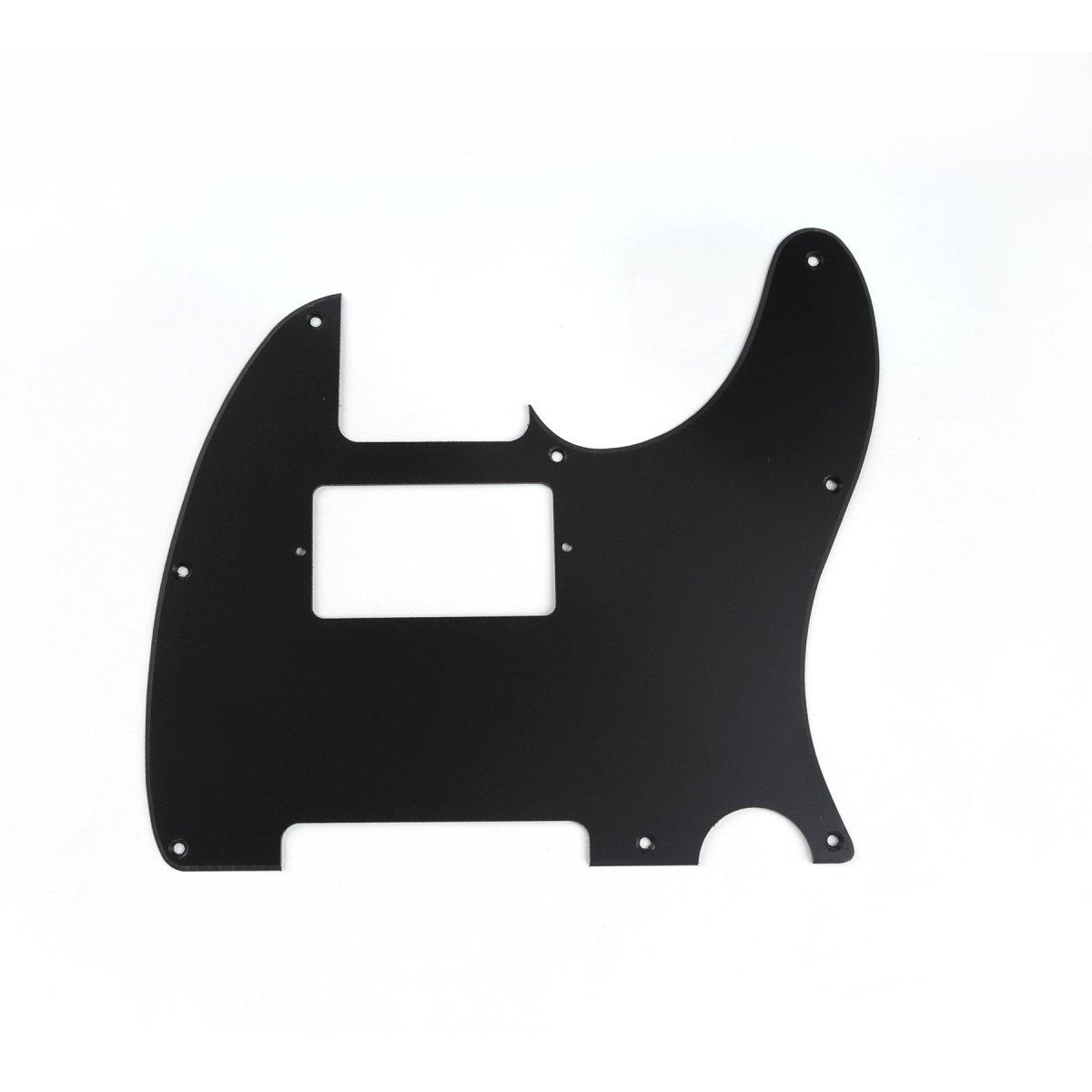 Musiclily 8 Agujeros Tele Pickguard Golpeador Humbucker HH para Fender American//M/éxico Standard Telecaster Estilo Moderno,1 capa Negro