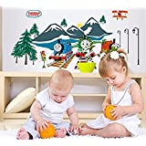 DIY Home Decor Art Removable Wall Stickers Kids Room Nursery Thomas the Train Luminous Stickers Wall Decals