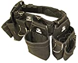 Gatorback B145 Carpenters Triple Combo w/Pro-Comfort Back Support Belt. Heavy Duty Work Belt (Medium 31'-35')