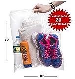 "20 Count Regular Roaster Storage Zip in Lock Bag 16"" x 18"", 3.5 Gallon Large & Strong Clear Ziplock Bags: more info"