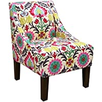 Skyline Upholstered Swoop Arm Chair in Santa Maria Desert Flower