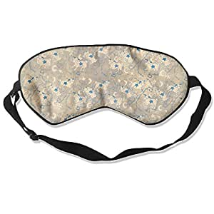 Sleep Mask 100% Natural Silk Eye Mask Glittering Blindfold Sheep Cute Pattern Eye Cover Unisex Ultimate Sleeping Aid Eyeshade