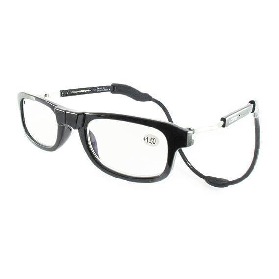 Loopies Occhiali da lettura con lenti fotocromatiche, a chiusura magnetica, di alta qualità Unisex, regolabili e confortevoli.