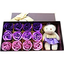 Rosesoap Hot Sale Romantic Rose Soap Flower Valentine's Day Gifts/ Wedding Gift/birthday Gifts (PURPLE)
