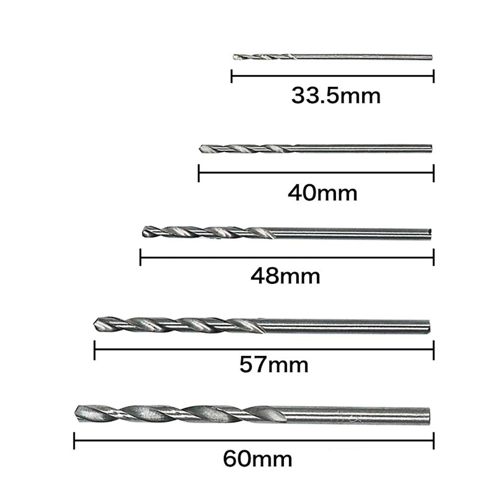 Gcroet 50pcs Set Profesional Brocas Conjunto De Alta Velocidad De Acero Mini Brocas De Taladro De Torcedura Broca De La Herramienta Para La Madera De Pl/ástico Y Metal 1.0-3.0mm
