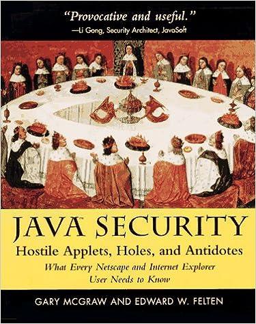 Java Security: Gary McGraw, Edward W  Felten: 9780471178422