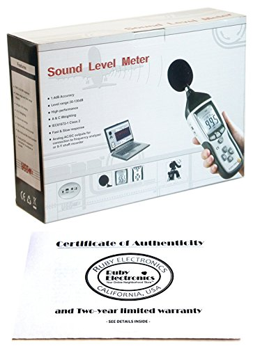 Ruby Electronics DT-8852 Industrial High Accuracy Digital Sound Noise Level Meter Data Logger with USB