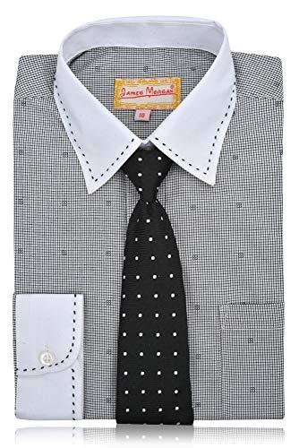 721d23974f078e JAMES MORGAN Boys Boxed Design Dress Shirt with Tie - Sizes 4-7 ...