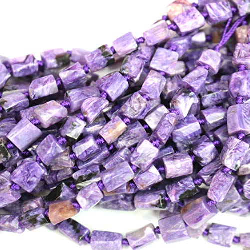 - Natural Charoite Barrel 8x10mm Free Size Nuggets Genuine Gemstone Jewelry DIY Making Loose Beads
