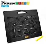 PicassoTiles Magnetic Drawing Board 12x10 inch Large 748 Bead Magnet Tablet Pad Erasable Reusable Writing Playboard STEM Toys Educational Playset Open-Ended Learning Kit Child Brain Development PTB01