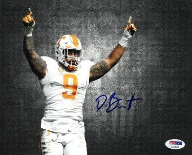 36890850b60 Derek Barnett Autographed Photo - 8x10#9 Hologram horizontal arms up ...