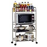 4-layer stainless steel kitchen rack / microwave oven rack / oven storage shelves / kitchen supplies