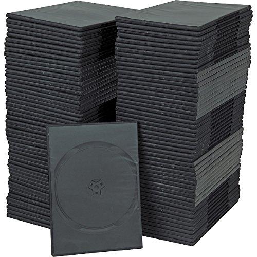 7mm Slim Single Black DVD Cases 100 Pack