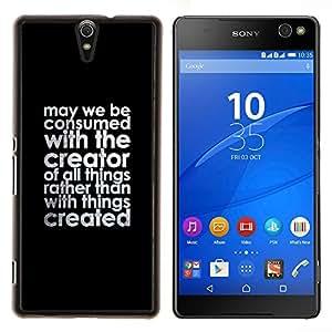 Stuss Case / Funda Carcasa protectora - Creador cristiana Negro Texto motivación de la cita - Sony Xperia C5 Ultra