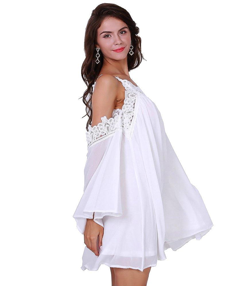 Missord women's y V Neck Off Shoulder Harness Summer Dresses ...