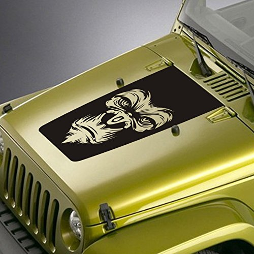 Jeepazoid-Jeep-Wrangler-Decal-Gorilla-Face-Blackout-Hood-Sticker