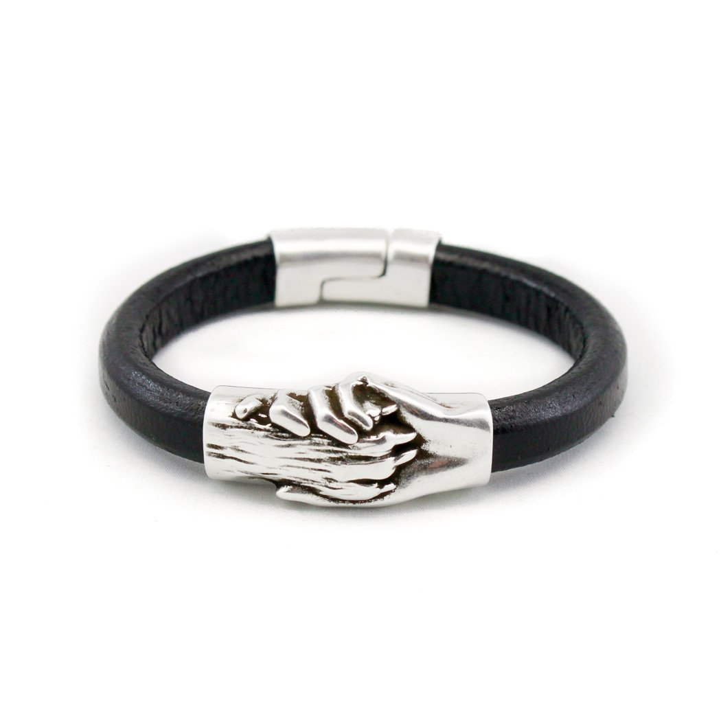 Hand and Paw Project Leather Bracelet, Extra Small, Black