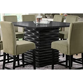 Coaster Stanton Contemporary Counter Table In Black Finish