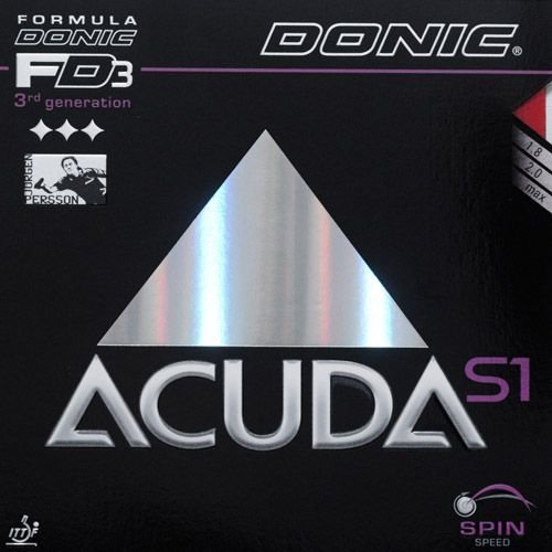 Donic Acuda S1 Table Tennis Rubber (Black, 2.0 mm) by Donic by DONIC