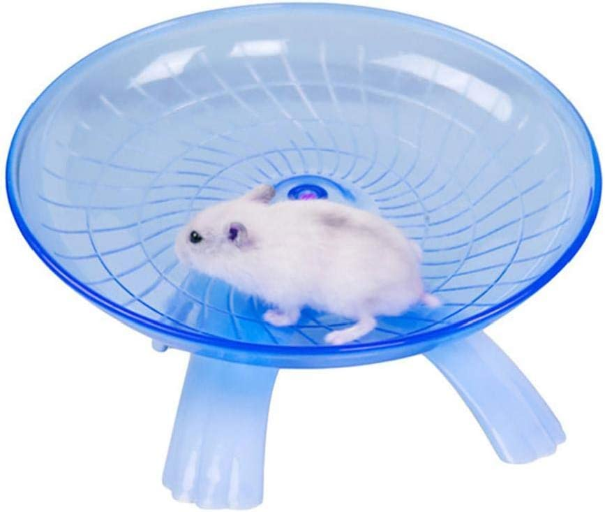 1pc Hamster Wheel Flying Saucer Wheel Running Plastic Disc Small Animal Comfort Exercise Wheel Toy Silent Spinner for Pet Syrian Hamsters Rat Gerbil Mice Chinchilla Guinea Pig Squirrel blue