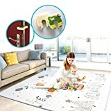 Play mat baby Care Play Mat Foam Floor Gym Slip Reversible Waterproof Portable double sides Kids Play Mat Baby Toddler Outdoor or Indoor Use(Deer, 59x70x0.8in)