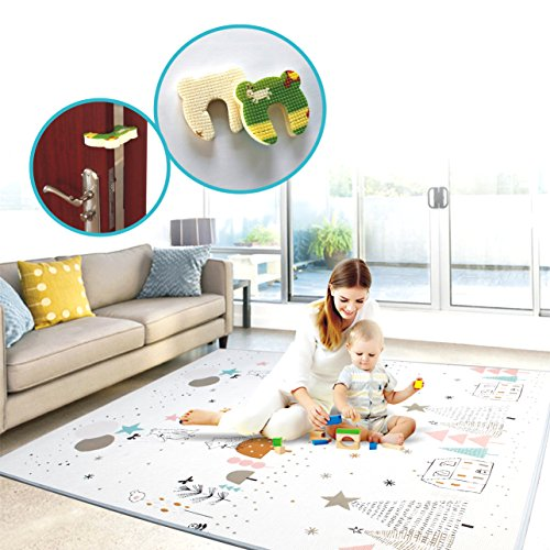 Play mat baby Care Play Mat Foam Floor Gym Slip Reversible Waterproof Portable double sides Kids Play Mat Baby Toddler Outdoor or Indoor Use(Deer, 59x70x0.8in) by Gupamiga (Image #9)