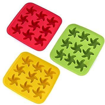 Moldes flexibles para hacer cubitos de hielo de piña de silicona de fácil liberación, para