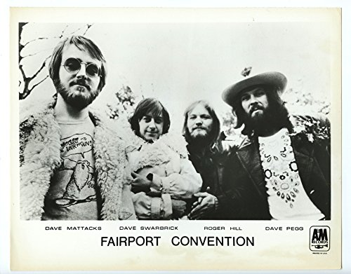 (Fairport Convention BW 8 x 10 Promo Photo Original Vintage A&M Records)