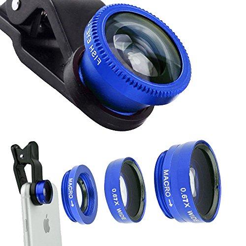 Universal 3-in-1 180°Fisheye Lens (Blue) - 3