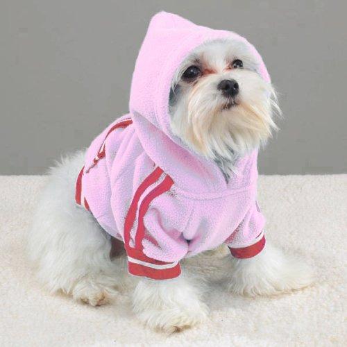 PINK - X-SMALL - Sporty Fleece Pullover - - Sporty Fleece Pullover Dog Apparel