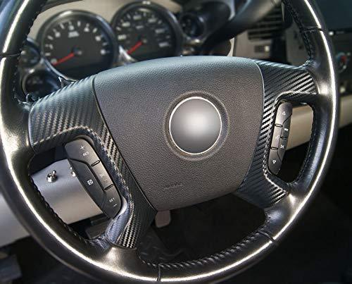 데칼 개념을 전체 탄소섬유 스티어링 휠 스포크 오버레이 칼 덮개(적합 선택 2007-2013 레 GMC 모델)