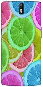 Snoogg Citrus Refresh Designer Protective Back Case Cover For One Plus One