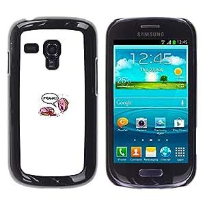 A-type Arte & diseño plástico duro Fundas Cover Cubre Hard Case Cover para Samsung Galaxy S3 MINI i8190 (NOT S3) (Donut asesinato - Divertido)