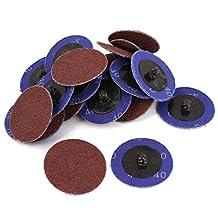 Sander 2-inch Dia 40 Grit Sandpaper Sanding Polishing Disc Wheel 40pcs