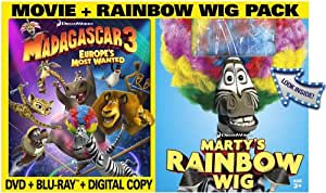 Madagascar 3:  Europe's Most Wanted (Two-Disc Blu-ray/DVD Combo + Digital Copy + UltraViolet and Rainbow Wig)
