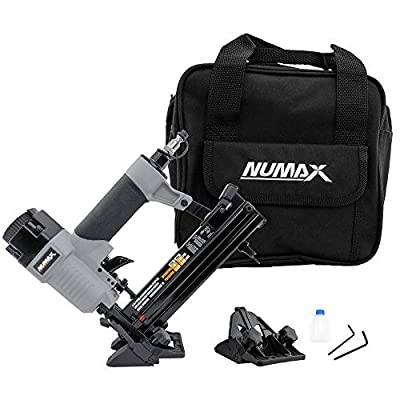 "NuMax Pneumatic SFBC940 4-in-1 18-Gauge 1-9/16"" Mini Flooring Nailer and Stapler with Canvas Bag"