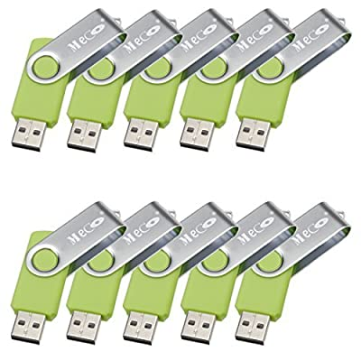 MECO10Pcs 4GB 4G USB 2.0 Flash Drive Memory Stick Fold Storage Thumb Stick Pen Swivel Design Green from MECO CO.,LTD