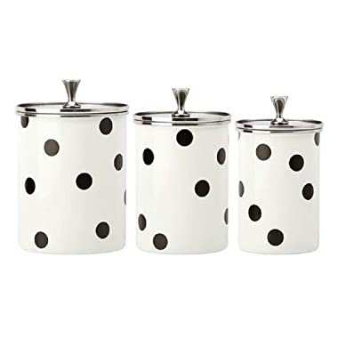 Kate Spade New York 'Deco Dot' Canisters, Set of 3